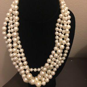 J. Crew statement pearl necklace